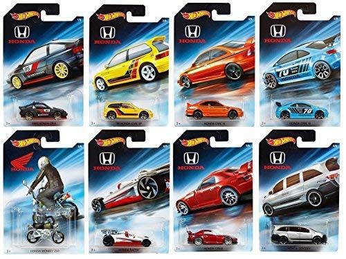 Hot Wheels 2018 Honda 70th Anniversary Bundle Set of 8 Die-Cast Vehicles, 1:64 -