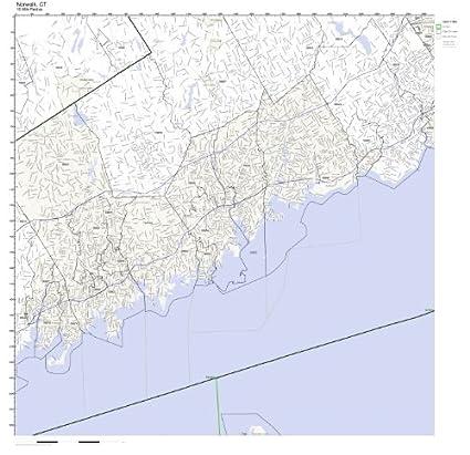 Amazon.com: Norwalk, CT ZIP Code Map Not Laminated: Home & Kitchen