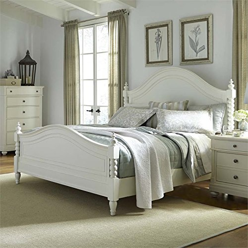 Liberty Furniture Harbor View II Bedroom King Poster Bed, Linen Finish