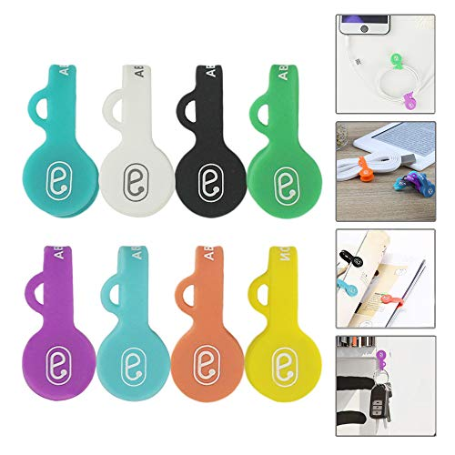 c Cable Clips Earphone Wrap Cord Organizer Soft Silicone for Headphones/Date USB Cable, Use as Bookmarks/Keychain, Cable Straps/One Step to Organize Your Disordered Cables. ()