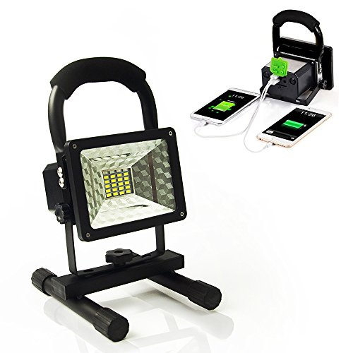 Vaincre 15W 24LED Outdoor Floodlight Camping Lights Portable LED Work Lights, Built-in (Mobile Work Stand)