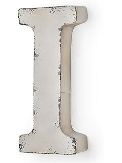 MONTEMAGGI Metal de Couleur Ivoire M Antique Lettre 37 X 5 X 30 cm