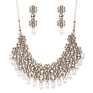 Zaveri Pearls garden Flower Necklace Set-ZPFK4300