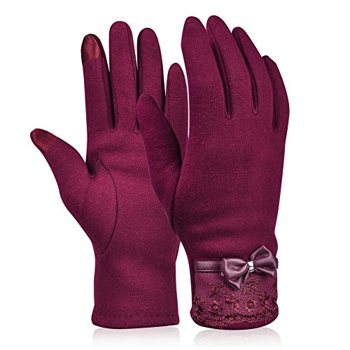Vbiger Womens Winter Gloves Touch Screen Gloves Thick Warm ...