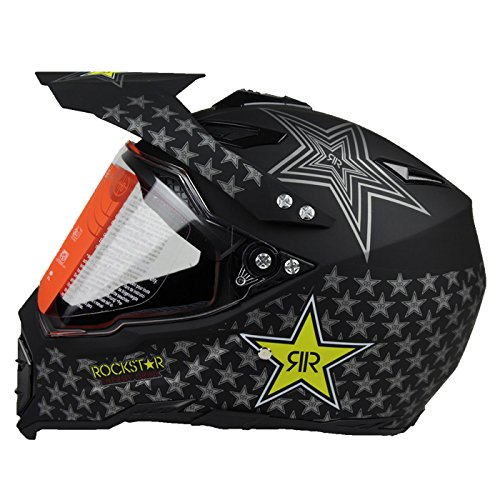 Woljay Dual Sport Off Road Motorcycle helmet Dirt Bike ATV D.O.T certified(XL)