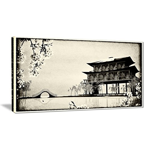 Designart Chinese Ink Painting Landscape Canvas Print