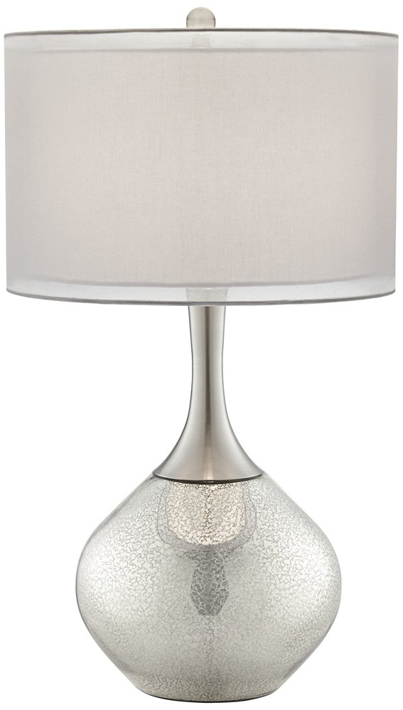Possini Euro Design Swift Modern Mercury Glass Table Lamp Amazoncom