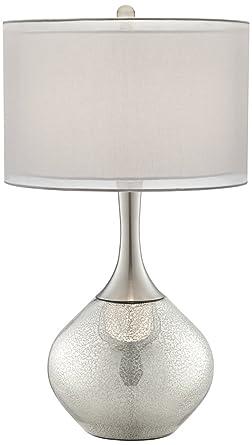 Possini Euro Design Swift Modern Mercury Glass Table Lamp Amazoncom