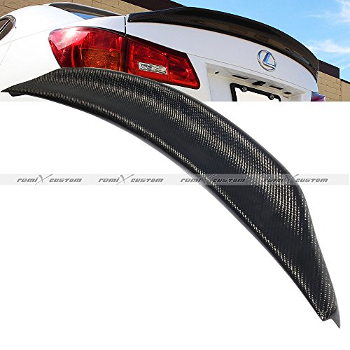 Remix Custom 2006-2012 Lexus IS250 / IS350 Carbon Fiber Duck Rear Trunk Spoiler Wing