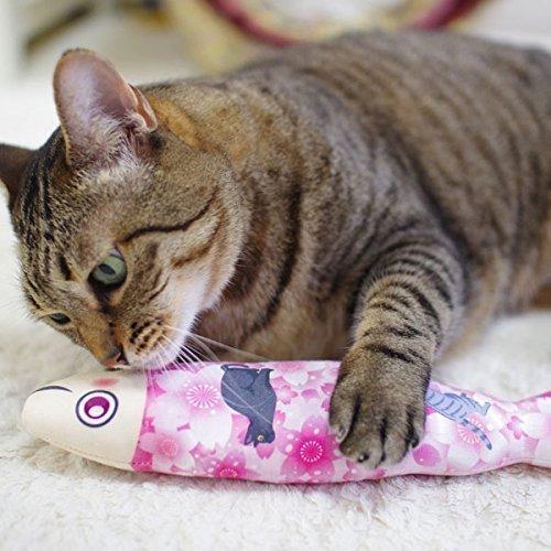 Sakura Fish Cat Toys, Silvervine Toys for Cats, Handmade Cat Toys, Fish Kicker Cat Toys, Japanese Catnip Kicker Pillow, Japanese Catnip Kick Stick, Unique Cat Toy, Cat Gifts