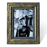 turquoise and gold picture frames - Antique Gold Picture Frames 5x7 Vintage Photo Frame Ornate Wood Bronze Rust Retro Turquoise Beaded