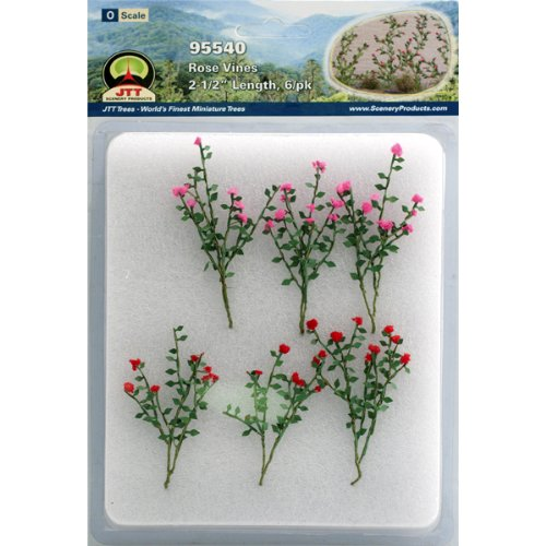 Accessories Petal Rose Cottage (JTT Scenery Products Flowering Plants Rose Vines O Scale Hobby Train Sceneries)