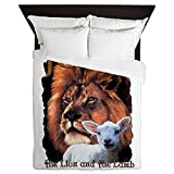 Queen Duvet Cover Jesus The Lion And The Lamb