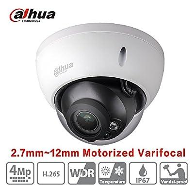 Dahua Camera IPC-HDBW4433R-ZS 2.7mm~12mm 4MP Starlight Varifocal Motorized Zoom Network Dome Camera PoE H.265 ONVIF IP Camera from CHWGKJ