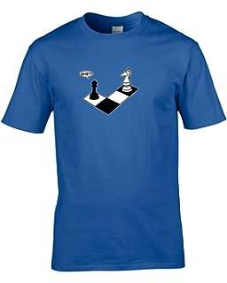 Ice-Tees Diseño de Cuadros Mate - de Logotipo de El Caballero y balón de Carcasa Pawn para Hombre T-Shirt de…