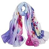 Silk silk silk scarf Silk long scarf Autumn and winter shawls dual-use scarf