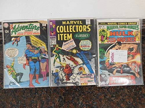 Various Comics Set of 3: Adventure Comics (1969), Marvel Collectors