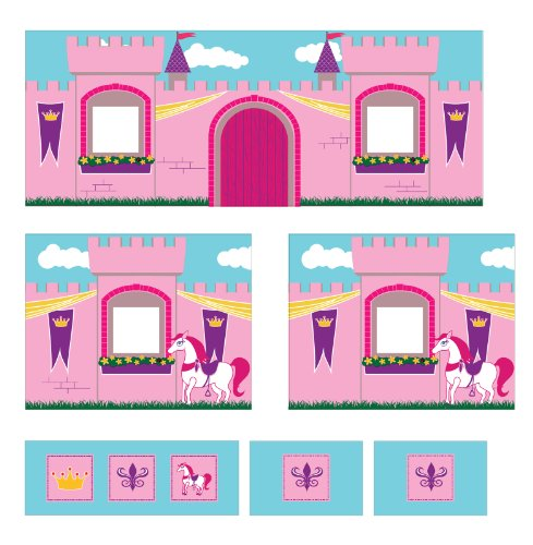 DHP Curtain Set for Junior Loft Bed with Princess Castle Design