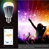 MWGEARS Bluetooth Smart Mesh LED Light Bulb 7.5W with Color Changing Lights