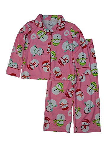 Snowman Flannel Pajamas - Alfa Global Little Girls' Flannel Printed Pajama Set Snowman 3T