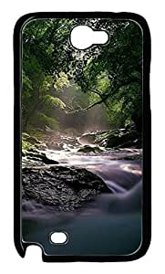 Flowing Forest River Protective Hard Plastic Back Fits Cover Case for Samsung Galaxy Note 2 N7100 -1122050