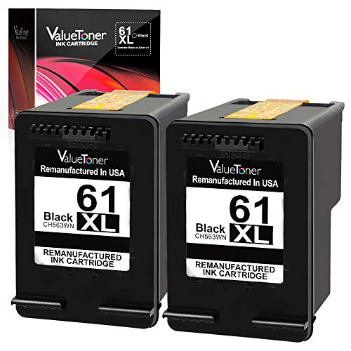 Valuetoner Remanufactured Ink Cartridge Replacement for HP 61XL 61 XL High Yield for Envy 4500 5530 5534, Deskjet 2540 1000 1010, Officejet 4630 2620 4635 Printer (Black, 2 - Hp 300 Deskjet