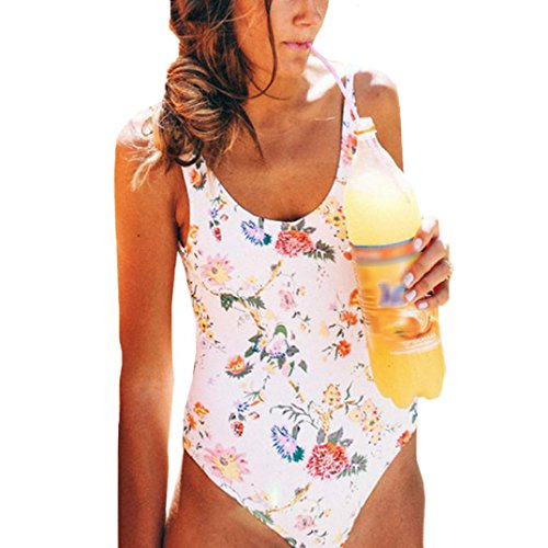 Showking 2018 New Design Women One Piece Siamese Bikini Bra Swim Swimsuit Swimwear Beachwear (L) by Showking