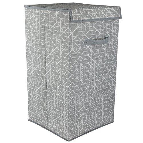 Home Basics Laundry Hamper, Grey