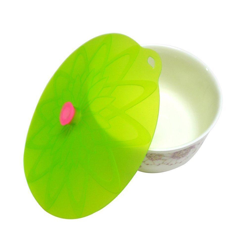 Kuke Silikon Deckel des Lotos Silikon Abdeckung Frischhalte Lids /& Deckel f/ür die Sch/üsseln T/öpfe Tassen Gr/ün-M