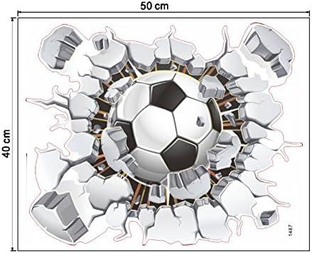 Balón de fútbol Fútbol Roto 3D Peel Decorativo Vinilo Pegatinas de ...