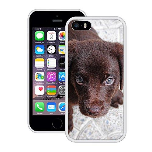 Hündchen   Handgefertigt   iPhone 5 5s SE   Weiß Hülle