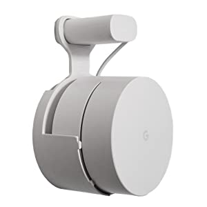 Dot Genie Google WiFi Outlet Holder Mount: [Original and Best] USA Made - The Simplest Wall Mount Holder Stand Bracket for Google WiFi Routers and Beacons - No Messy Screws! (1-Pack)