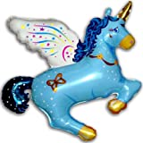 43'' MAGICAL UNICORN BALLOON (BLUE) - Amazing New HOVERING ANTI-GRAVITY TOY - Free Floating, FLYING Horse Pegasus Pony Animal Kingdom Fantasy Fairy Tale Birthday Party Favor