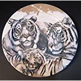 BOPLA! BURANI Porzellan WEISSER TIGER - Grosser Teller 27 cm Large plate 10 5/8 in. Assiette grande 27 cm Piatto grande 27 cm SAFARI