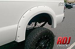 RDJ Trucks PRO-OFFROAD Bolt-On Style Fender Flares - Ford F250/F350 SuperDuty 1999-2007 - Paintable OE Black Finish