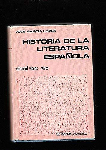 Historia de la literatura española: Amazon.es: Garcia Lopez, Jose: Libros