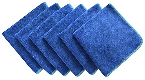 LIGHTENING DEAL! 6 PACK ALL PURPOSE MICROFIBER CLEANING CLOTHS NOW ONLY $5.91!