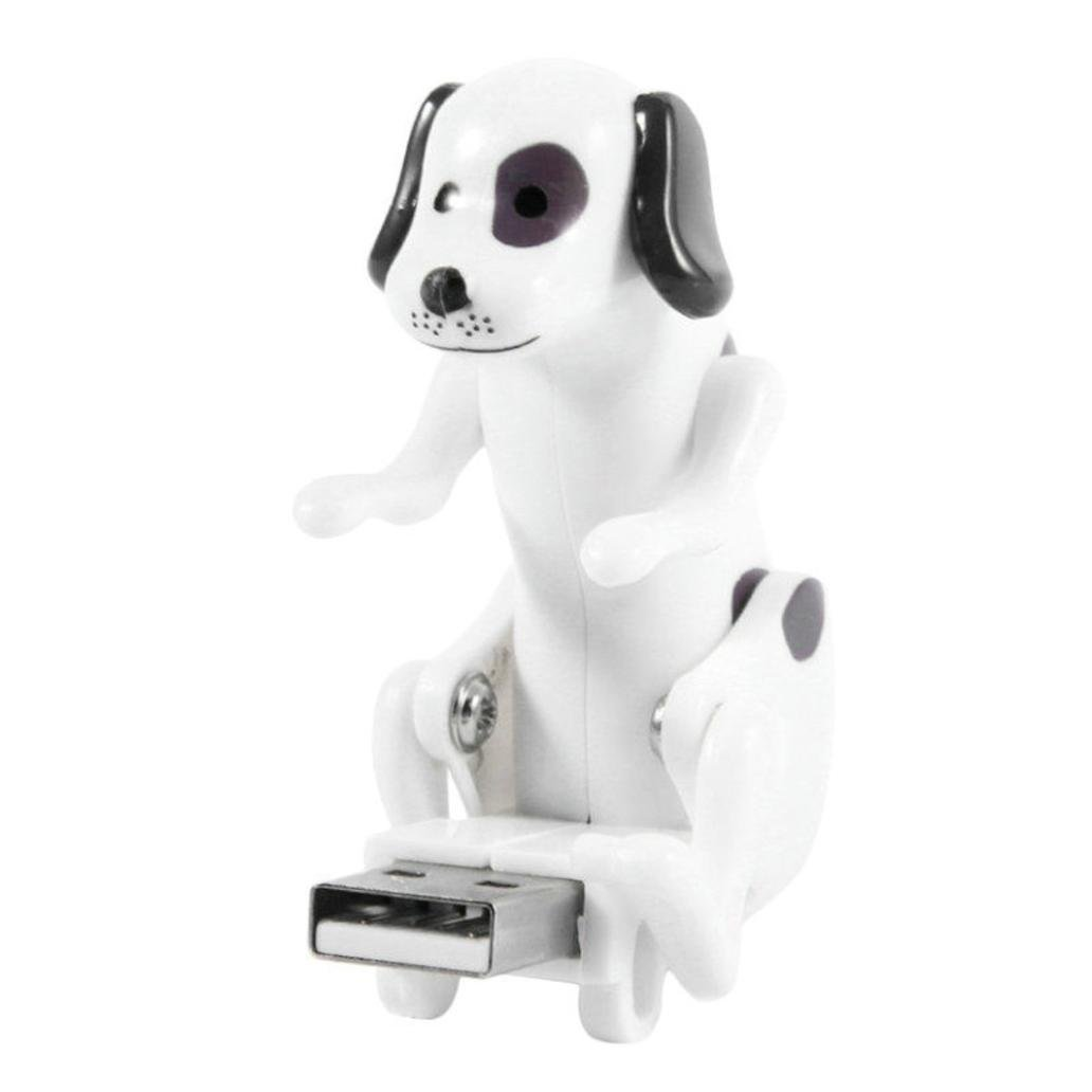 Livoty USB Flash Drives ,Funny Cute USB Pet Humping Spot Dog Toy Relief Stress atmosphere to the boring office life Gift (White)