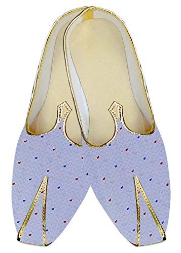 INMONARCH Boda Zapatos MJ016095 Hombres Lavanda Polca Dots ffHzTq