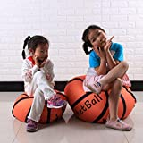 DDLBiz Stuffed Animal Storage Bean Bag Sack Organization Backetball Organizer Box for Kids Toys Household Supplies (26 Inch)