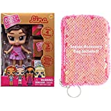 Ropeastar Boxy Girl Mini Doll Sequin Bag Set, Fashion Doll Toys Girls, Surprise Accessories Doll Set, Unique Ideas Kids, Holiday Birthday Gifts Children (Lina)