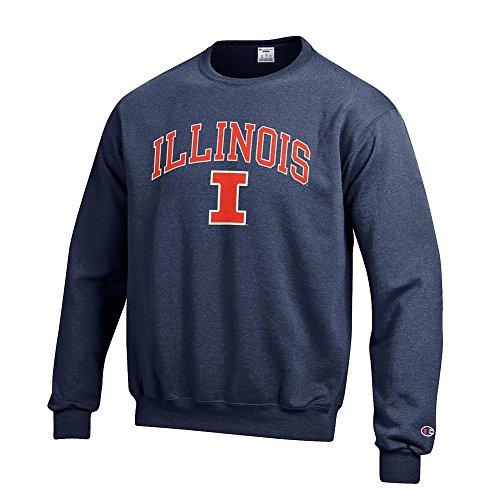 Fighting Illinois University Illini (Elite Fan Shop Illinois Fighting Illini Crewneck Sweatshirt Varsity Navy - XL)
