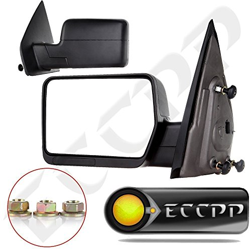 Eccpp Black Manual Extended Towing For  Ford F  Truck Pickup Side View Mirrors Pair Set
