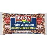 Iberia Dry Cranberry (Roman) Beans, 12 oz, Frijoles Cargamanto