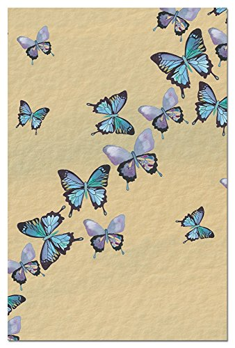 Tree-Free Greetings Eco Notes 12 Count Notecard Set with Envelopes, 4x6 Inches, Blue Butterflies in Flight Themed Shell Rummel Art - The Greene Gift Card