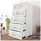 CY BAG Portable Drawer Closet Wardrobe, Plastic Children's Wardrobe Organizer Storage Closet Dresser Cupboard Closet Corridor Wardrobe Bookcase Cabinet , Easy to Assemble Replace Wood Wardrobe