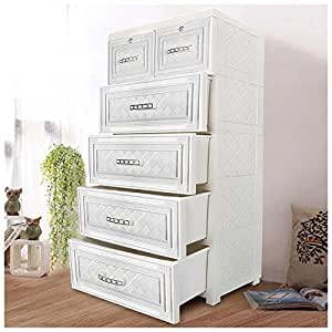 YUTING Kids' Plastic Wardrobe DIY Portable Closet Organizer with Drawers, Household Organizers Tidy Up Your Closets, Shelves, Toys, Blankets, Create Extra Storage Space ¡­