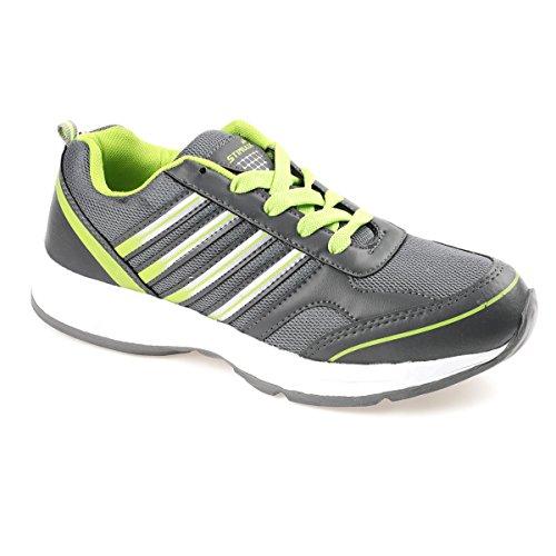 PARAGON Stimulus Men's Grey & Green Sports Shoes