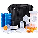 MADENAL Double Electric Breast Pump Travel Set, Ice...