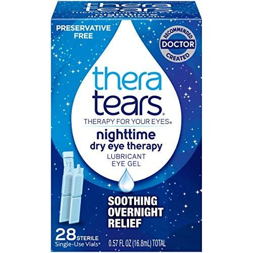 (TheraTears Nighttime Dry Eye Therapy- Lubricant Eye Gel- Preservative Free MegaValue (3Packs of 28ct))